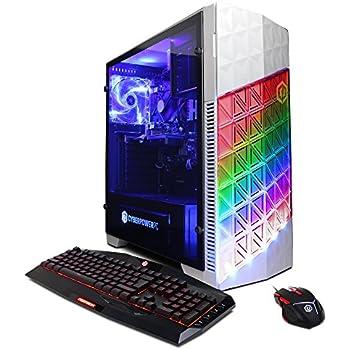 CYBERPOWERPC Gamer Master GMA300 Desktop Gaming PC (AMD Ryzen 7 1700 3.0GHz, NVIDIA GTX 1050 Ti 4GB, 8GB DDR4 RAM, 1TB 7200RPM HDD, Win 10 Home), White