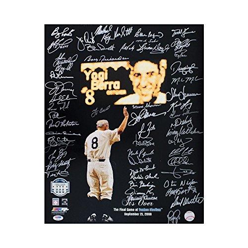 Final Game At Yankee Stadium Autographed 16x20 Photo (56 Signatures) PSA/DNA LOA