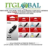 CANON PGI 750 XL Black & CLI 751 XL BK/C/Y/M [Set of 5 Cartridge] -Special ITGLOBAL Combo With Scratch & Win Reward Offer - From ITGLOBAL