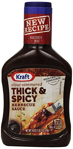 Kraft Barbecue Sauce Slow-Simmered Thick & Spicy, 18 Ounce