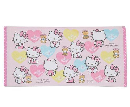 Sanrio Japan Hello Kitty Heart Bath Towel Genuine