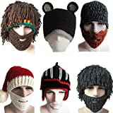Yosang Windproof Ski Mask Warm Knitted Beanie Hat Cap Brown
