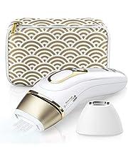 Braun PL5137 Silk-expert Pro 5, Epilatore Luce Pulsata, IPL, Epilazione Definitiva, Bianco/Oro