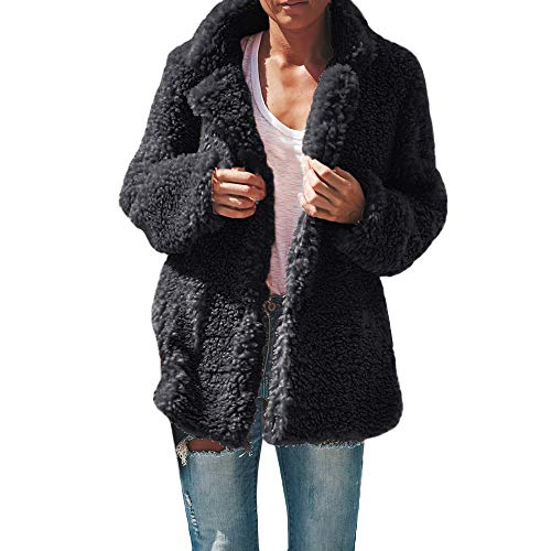 t Tahari Trench Coats for Women, Women's Lapel Open Front Coat Faux Shearling Fall Winter Jacket Warm Parka, New Ladies Hooded Belted Fleece Jacket Womens Coat top Sizes 8-22 -