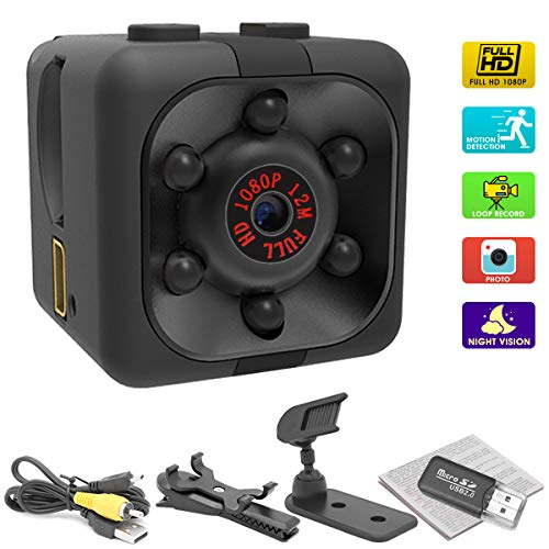 Mini Spy Camera, 1080P HD Hidden Camera Snapshot Video Recorder with Night Vision Motion Detection Nanny Cam for Home Office Security