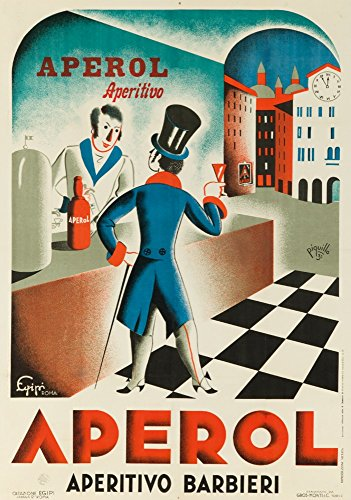 Italy - Aperol - (artist: Piquillo c. 1931) - Vintage Advertisement (16x24 Fine Art Giclee Gallery Print, Home Wall Decor Artwork Poster)