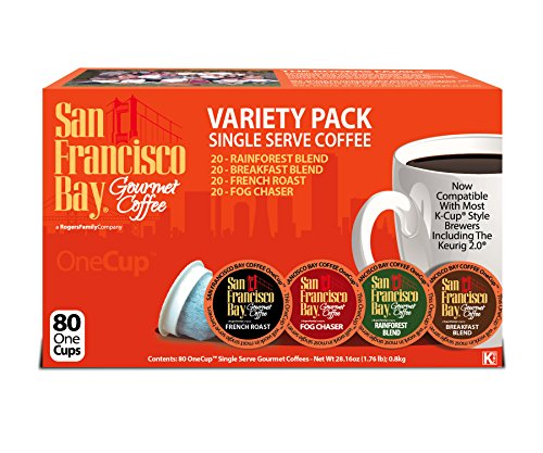 San Francisco Bay OneCup, Variety Pack, 80 Single Serve Coffees