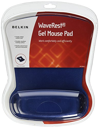 Belkin WaveRest Ergonomic Gel Mouse Pad with Wrist Support (Blue) (F8E262-BLU) ()