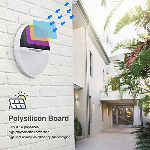 Aogist 2 Pack Solar Wall Lights 48 LEDs Outdoor Motion Sensor Lights IP65 Waterproof Durable Solar Powered Wall Lights Outdoor Security Lights with Motion Sensor for Garage Yard Patio Garden Pathway