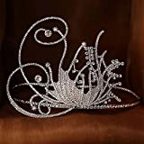 Superhai Butterfly Bridal Jewelry Luxury Nobility Creative Big Crown Bride Crown