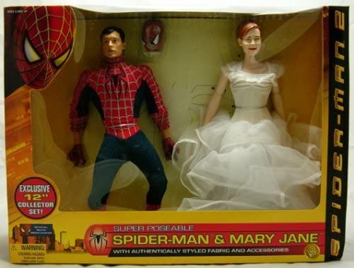 Spider-man 2 Wal-mart Exclusive 12 Collector Doll Set with Spider-man & Mary Jane Dolls Action Figures 2 Pack By Toy Biz by Toy Biz: Amazon.es: Juguetes y juegos