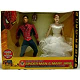 """Spider-man 2 Wal-mart Exclusive 12"""" Collector Doll Set with Spider-man & Mary Jane Dolls Action Figures 2 Pack By Toy Biz"""