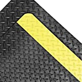 Superior Manufacturing Notrax 3' X 75' Black And Yellow 1'' Thick Rubber Dura Trax Grande Dry Area Safety/Anti-Fatigue Floor Mat
