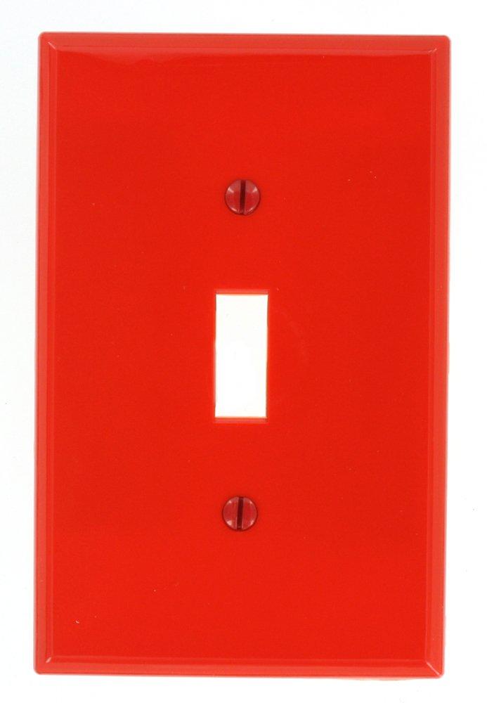 Leviton PJ1 1-Gang Toggle Wallplate Brown Midway size