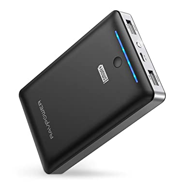 Portable Charger RAVPower 16750mAh Power Bank, Time-Tested USB Battery Pack with Dual 2.0 USB Ports/Flashlight, 4.5A Max Output Cell Phone Charger Battery for iPhone/Android Devices