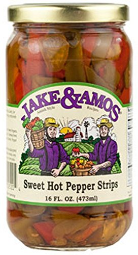 Jake & Amos Sweet & Hot Pepper Strips / 2 - 16 Oz. Jars