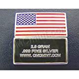 Silver 2.5 gram U.S. Flag Art Bar
