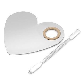 Subtop Paleta de maquillaje en forma de corazón de acero ...