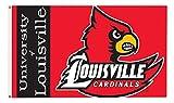 JTD Enterprises NCAA Louisville Cardinals Flag, 3 x 5', Red