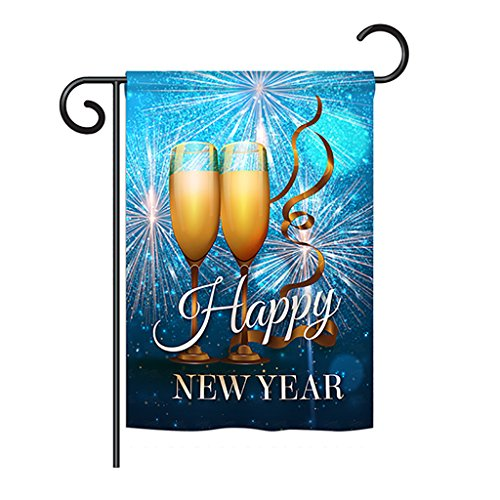 Ornament Collection GS191075-BO New Year Fireworks Winter New Year Impressions Decorative Vertical 13