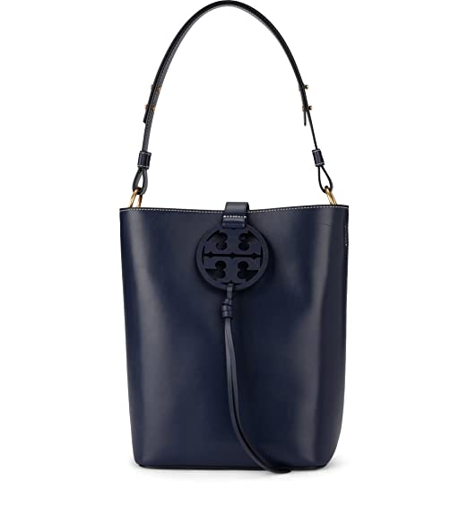 fe60f30efb Tory Burch Tory Burch Miller Blue Leather Bucket Bag Blue: Amazon.co.uk:  Clothing