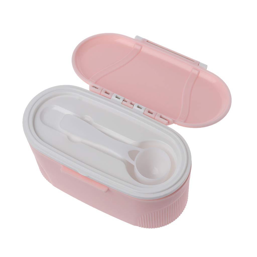 Rose Distributeur de Lait en Poudre Portable Manyo Bo/îte Doseuse Lait Poudre Grande Contenance,sans BPA