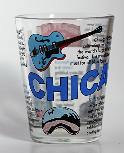 Chicago Illinois Attractions Collage Shot Glass