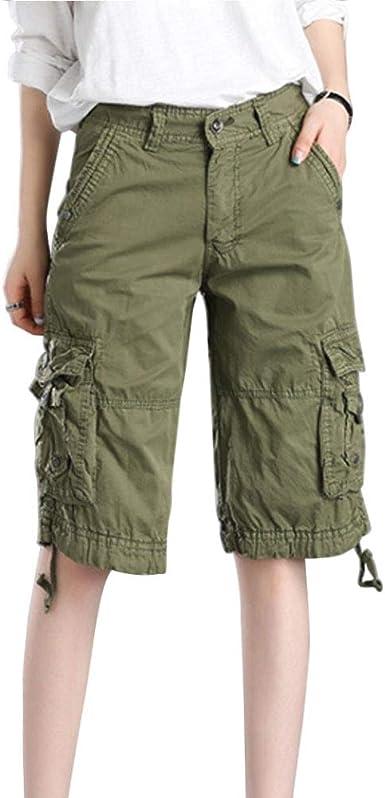 Huatime Mujer Cargo Pantalones Cortos - Directamente Casual ...