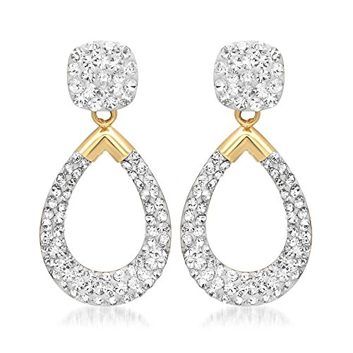 10k Yellow Gold Crystal Combination Stud with Drop Earrings