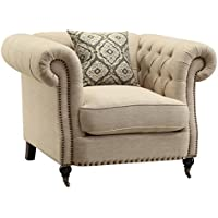 Coaster Home Furnishings 505823 Trivellato Collection Chair, NULL, Oatmeal