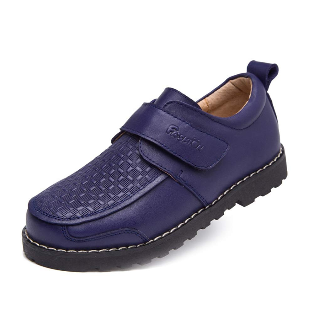 F-OXMY Boys Breathable School Oxfords Casual Shoes Slip-On Classic Dress Shoes Toddler/Little Kid/Big Kid Blue