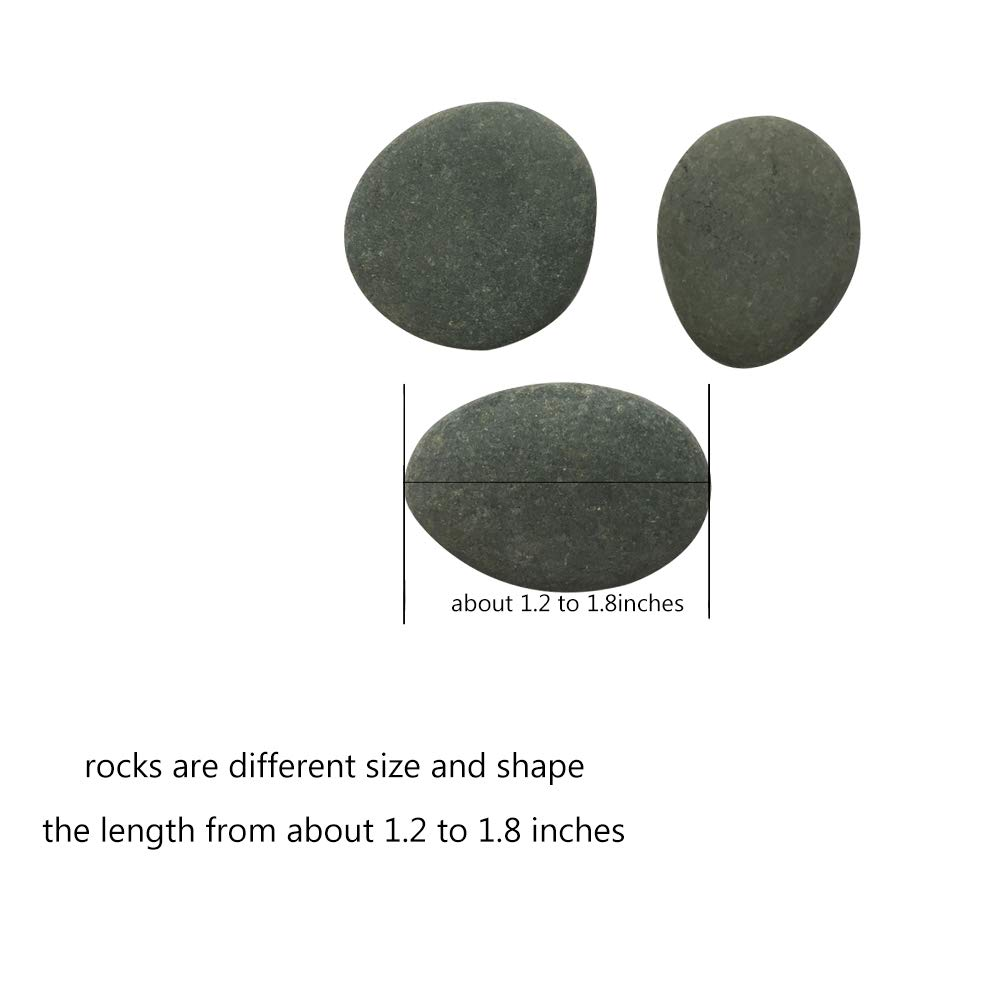 Lifetop 50pcs Tiny Painting Rocks DIY Rocks for Painting Detail-Painting Rocks Smooth Surface Stones,Arts and Crafts ,0.5 to 1.0 inches ,So Small Rocks,Hand Picked for Painting Rocks