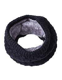 Trenton Fashion - Bufanda de lana suave térmica para el cuello de invierno para mujeres y hombres