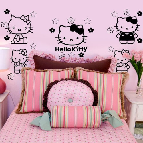 amazon com imprinted designs hello kitty inspired wall decal