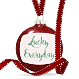 Christmas Decoration Lucky Everyday St. Patrick's Day Green Watercolor Ornament