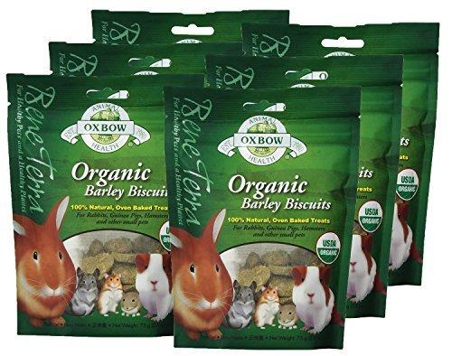 Oxbow Animal Health Barley Biscuits Bene Terra Organic Food and Treats, 2.65-Ounce (6 Pack)