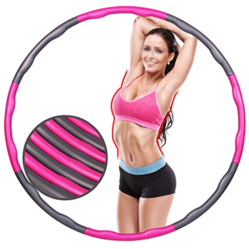 Fitness Exercise Hula Hoop 2 Pound Weighted Hula Hoop Perfect for Dancing Hot Fitness Workouts and Simply the Funnest Way to Lose Weight Easy to Use Exercise Hoop Fun Easy Way to Workout (Hula Hoop For Adults Weighted)