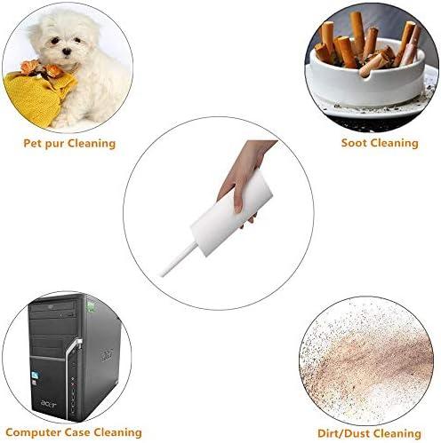 Aspirateurs Portatifs sans Fil, Aspirateur/Souffleur Technologie De Charge Rapide De Charge Mini-USB Combinaison, Lumière Cheveux Pet Famille Voitures Aspirateur,Blanc