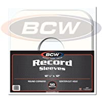 (50) BCW Brand 12 Record White Paper Inner Sleeves