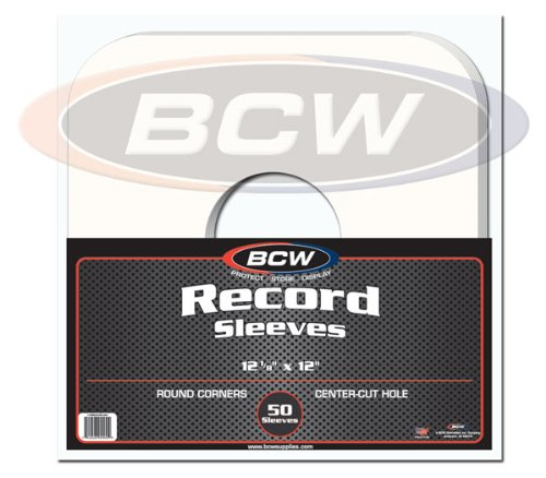 (50) BCW Brand 12 Record White Paper Inner Sleeves B00DSQIE3I