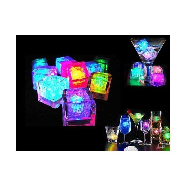 12 Pezzi Luminous ice,Xrten Cubo Ghiaccio LED Ice Cube Adatto per Bar, Balli, Ricevimenti, Feste, Matrimonio 4 spesavip