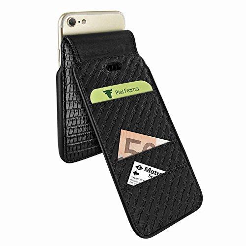 Piel Frama 760 Black Lizard iMagnumCards Leather Case for Apple iPhone 7 / 8 by Piel Frama (Image #3)