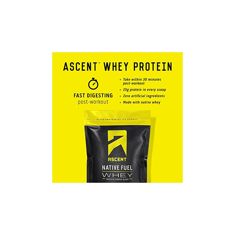 Ascent Native Fuel Whey Protein Powder Made with Native Whey Zero Artificial Ingredients Gluten Free