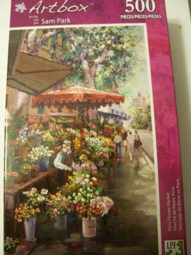 Artbox Puzzle  Paris Flower Market 500 Piece Puzzle (Sam Park) by LPF