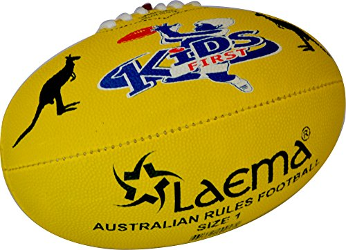 Footy Ball - LAEMA JUNIOR AFL Hi-Tech Advance PIN GRIP AUSTRALIAN RULES FOOTY Ball Size 1 AND 2 (Size1)