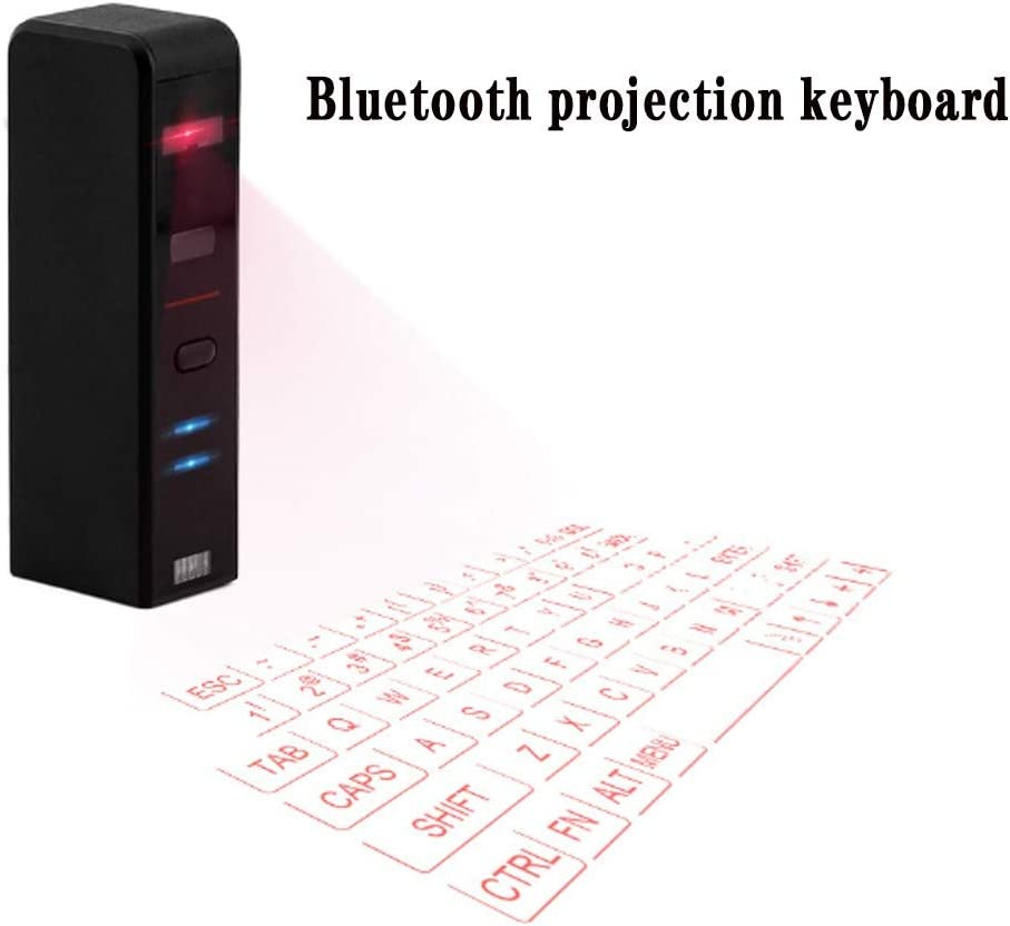 Bluetooth Projection Wireless Keyboard Compatible with Mobile Phones//Notebooks//Desktops Etc British Virtual Office Mini Keyboard Convenient Laser Keyboard