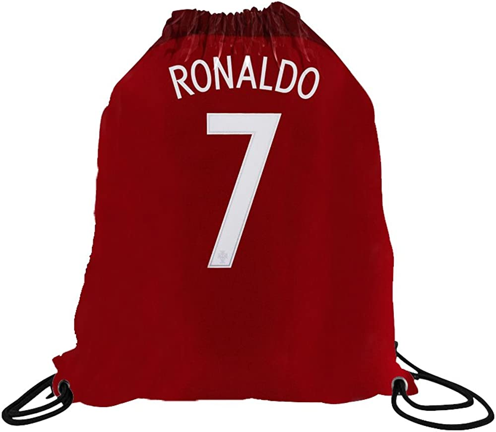 Ronaldo Jersey Style T-Shirt Kids Cristiano Gift Set Youth Sizes Premium Quality with Soccer Backpack