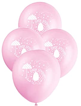 Unique Party Globos de Látex Baby Shower con Elefante, 8 Unidades, Color Rosa, 30 cm (41665): Amazon.es: Juguetes y juegos
