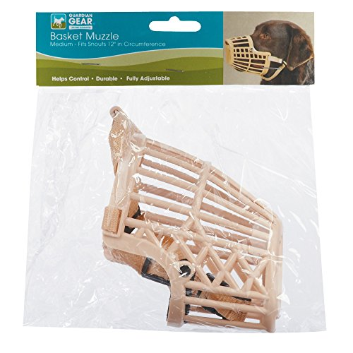 Image of Guardian Gear Flexible Plastic Dog Basket Muzzle - Large, Beige