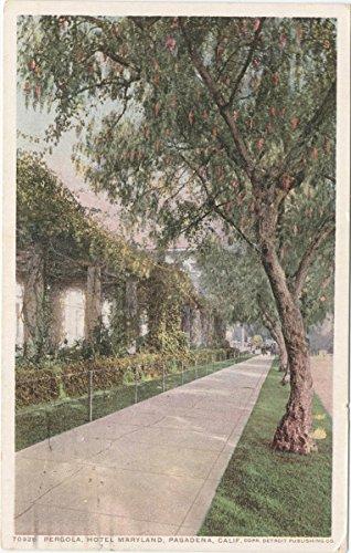 Maryland Hotel - Vintage Postcard Print | Pergola, Hotel Maryland, Pasadena, Calif, 1898 | Historical Antique Fine Art Reproduction
